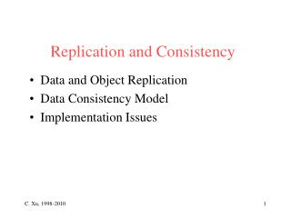 Replication and Consistency