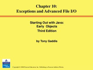 Starting Out with Java:  Early  Objects  Third Edition by Tony Gaddis