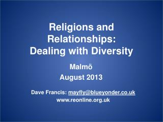 Religions and Relationships: Dealing with Diversity