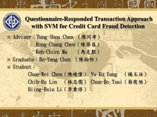 Questionnaire-Responded Transaction Approach with SVM for  Credit Card Fraud Detection