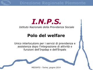I.N.P.S. Istituto Nazionale della Previdenza Sociale