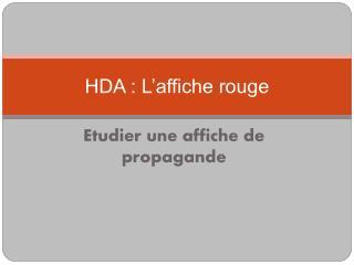 HDA : L affiche rouge