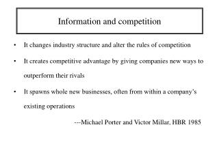 Information and competition