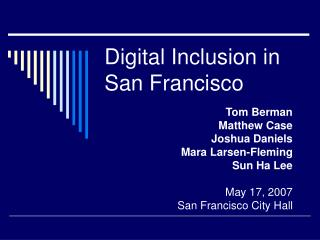 Digital Inclusion in San Francisco