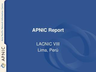 APNIC Report