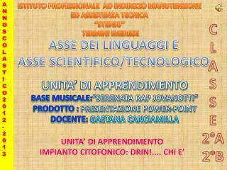 ASSE DEI LINGUAGGI E ASSE SCIENTIFICO/TECNOLOGICO