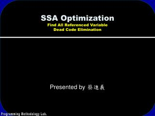 SSA Optimization Find All Referenced Variable Dead Code Elimination