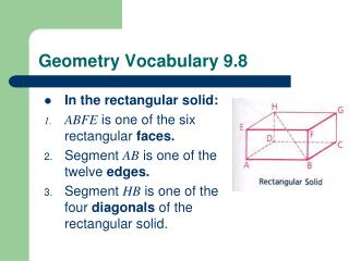 Geometry Vocabulary 9.8
