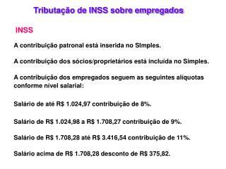 Tributação de INSS sobre empregados