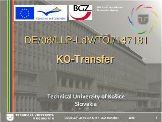 DE/08/LLP-LdV/TOI/147181 KO-Transfer
