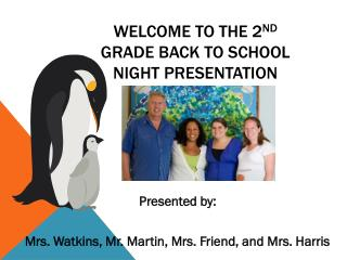 Welcome to the 2 nd  Grade Back to School Night Presentation