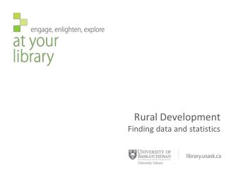 Rural Development Finding data and statistics