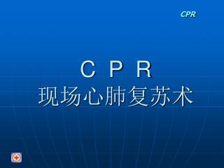 C  P  R 现场心肺复苏术