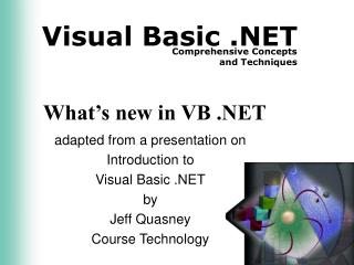 What's new in VB .NET