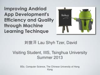 Improving Andriod App Development's Efficiency and Quality through Machine Learning Techinque