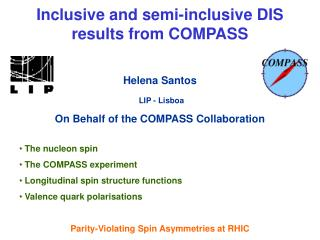 Inclusive and semi-inclusive DIS    results from COMPASS