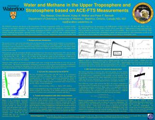 Water and Methane in the Upper Troposphere and Stratosphere based on ACE-FTS Measurements
