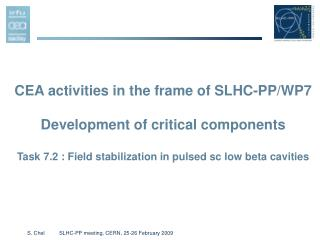 CEA activities in the frame of SLHC-PP/WP7 Development of critical components