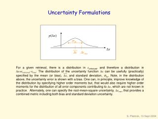 Uncertainty Formulations