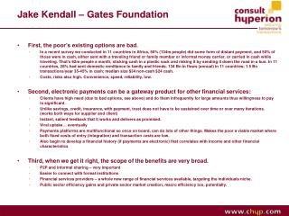 Jake Kendall – Gates Foundation