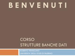 Corso Strutture Banche dati