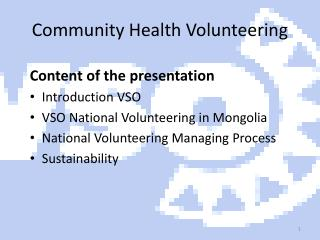Community Health Volunteering