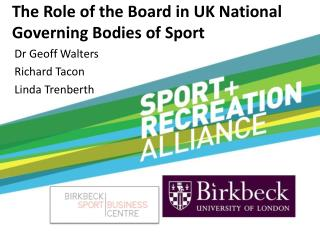 The Role of the Board in UK National Governing Bodies of Sport