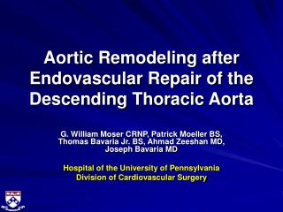 Aortic Remodeling after Endovascular Repair of the Descending Thoracic Aorta