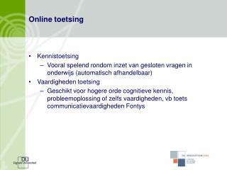 Online toetsing