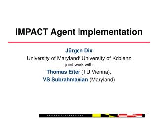 IMPACT Agent Implementation
