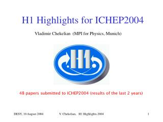 H1 Highlights for ICHEP2004