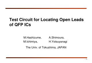 Test Circuit for Locating Open Leads  of QFP ICs