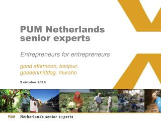 PUM Netherlands senior experts Entrepreneurs for entrepreneurs
