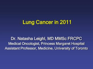 Lung Cancer in 2011