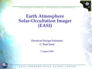 Earth Atmosphere Solar-Occultation Imager (EASI)