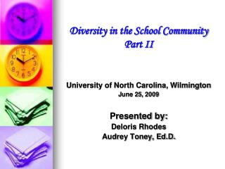 Diversity in the School Community Part II