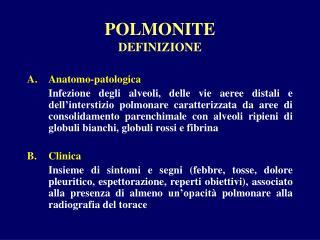 POLMONITE DEFINIZIONE