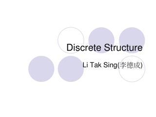 Discrete Structure