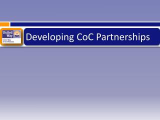 Developing CoC Partnerships