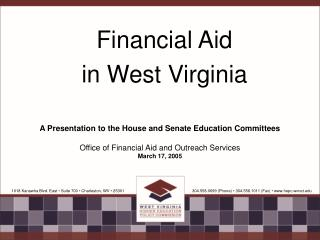 Financial Aid  in West Virginia