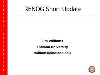 RENOG Short Update