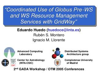 2 nd  GADA Workshop / OTM 2005 Conferences