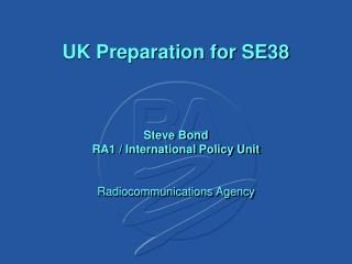 UK Preparation for SE38