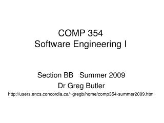 COMP 354 Software Engineering I
