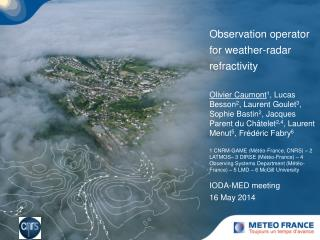 Observation operator for weather-radar refractivity