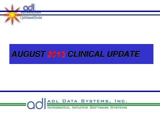 AUGUST  2013  CLINICAL UPDATE