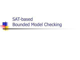 SAT-based  Bounded Model Checking