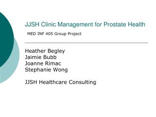 JJSH Clinic Management for Prostate Health