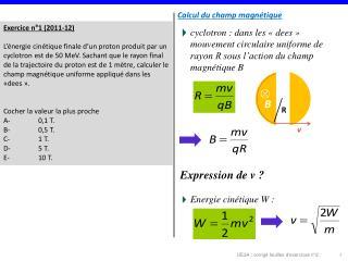 Exercice n°1 (2011-12)