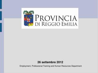 Employment, Professional Training and Human Resources Department
